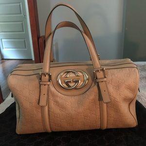Gucci Tan Leather Satchel Handbag